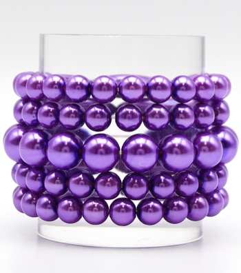 5-Piece Coco Pearl Stackable Bracelets
