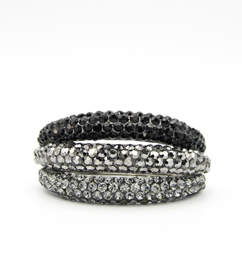 Crystal Pave Hinge Bangle Bracelet