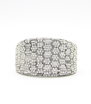 Crystal Statement Hinge Bangle Bracelet