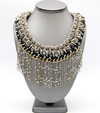 Velvelt Fringe Necklace