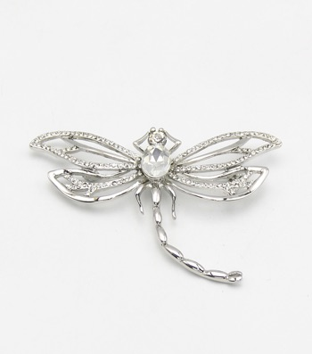 Crystal Pave Dragonfly Pin Brooch