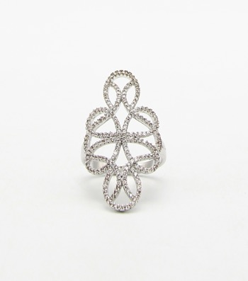 Micro CZ Pave Sized Ring
