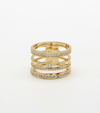 Micro Pave Multi Row Sized Ring