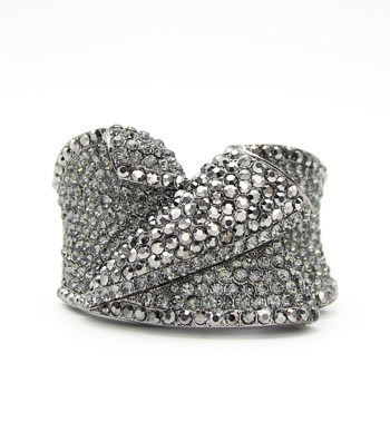 Statement Crystal Hinge Bangle Bracelet