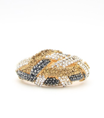 Multicolor Crystal Pave Hinge Bangle Bracelet
